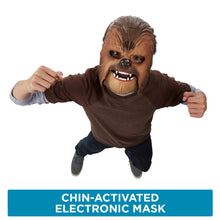 Load image into Gallery viewer, Star Wars Movie Roaring Chewbacca Wookiee Sounds Mask – Funny GRAAAAWR Noises, Sound Effects, Ages 5 and up - White Elephant Gift