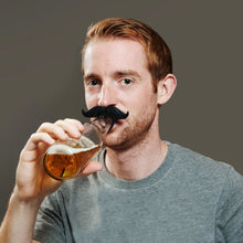 Load image into Gallery viewer, Beardo BeerMo Bottle & Pacifier Mustaches, 6 Pack, Colors - White Elephant Gift