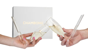 The Chambong - Hand-blown Champagne Shooters, 6 oz. - Bachelorette Party Gift - Perfect For Parties (2 Pack) - White Elephant Gift