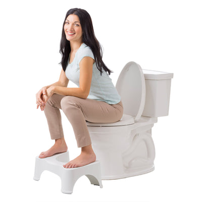 "Squatty Potty The Original Bathroom Toilet Stool, White, 7"" - White Elephant Gift"