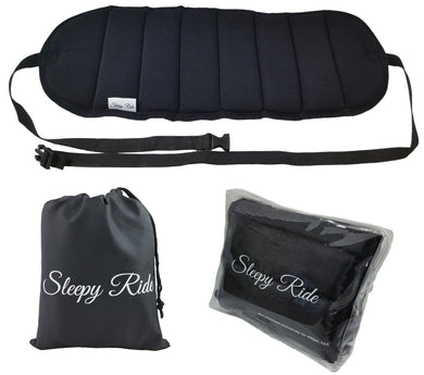 Sleepy Ride - Airplane Footrest Made with Premium Memory Foam - Airplane Travel Accessories - Tested and Proven to Prevent Swelling and Soreness - Provides Relaxation and Comfort (Jet Black) - White Elephant Gift