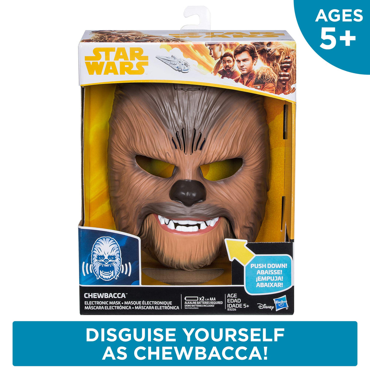 star wars movie roaring chewbacca wookiee sounds mask funny graaaawr white elephant. Black Bedroom Furniture Sets. Home Design Ideas