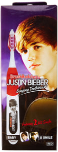 Brush Buddies Justin Bieber Singing Toothbrush, Baby and U Smile - Colors May Vary -Yellow, Purple, Blue, Red - White Elephant Gift