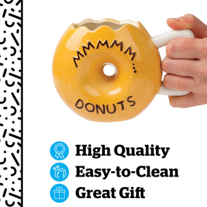 BigMouth Inc The Original Donut Mug, Ceramic 14oz, Chocolate Frosting with Sprinkles, Funny Coffee, Tea, Hot Chocolate Mug Gift