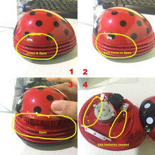 Load image into Gallery viewer, E ECSEM Cute Portable Beetle Ladybug Cartoon Mini Desktop Vacuum Desk Dust Cleaner(Red#002)