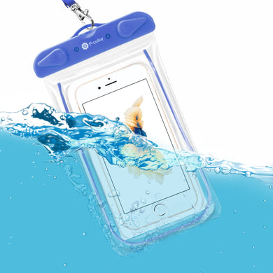 F-color Waterproof Case, 4 Pack Transparent PVC Waterproof Phone Pouch Dry Bag for Swimming, Boating, Fishing, Skiing, Rafting, Protect iPhone X 8 7 6S Plus SE, Galaxy S6 S7, LG G5 and More - White Elephant Gift