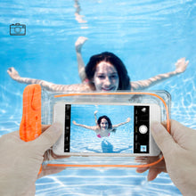 Load image into Gallery viewer, F-color Waterproof Case, 4 Pack Transparent PVC Waterproof Phone Pouch Dry Bag for Swimming, Boating, Fishing, Skiing, Rafting, Protect iPhone X 8 7 6S Plus SE, Galaxy S6 S7, LG G5 and More - White Elephant Gift