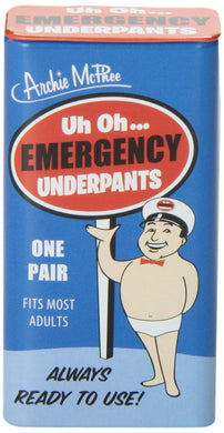 Accoutrements Emergency Underpants - White Elephant Gift