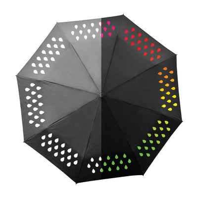 Suck UK Colour Change Folding Travel Umbrella-Lightweight, Weatherproof & Unisex, Adult, Multi - White Elephant Gift