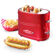 Load image into Gallery viewer, Nostalgia Retro Pop-Up Hot Dog Toaster - White Elephant Gift