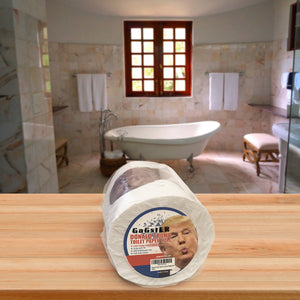 Donald Trump Toilet Paper Roll - Funny Novelty Gag Gift for Democrats and Republicans - 3 Ply Toilet Tissue 200 Full-Color Image Sheets in Each Roll | Hilarious Political White Elephant Gift Idea