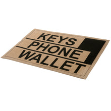 Load image into Gallery viewer, MyGift 2 x 3 ft Brown Polyester Keys Phone Wallet Funny Reminder Doormat/Novelty Non-Slip Floor Mat - White Elephant Gift