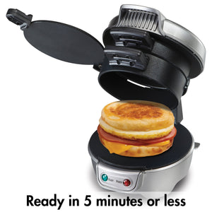Hamilton Beach 25475A Breakfast Sandwich Maker - White Elephant Gift