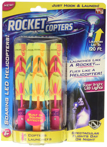 Rocket Copters - The Amazing Slingshot LED Helicopters - As Seen on TV - White Elephant Gift