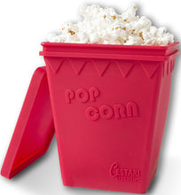 Load image into Gallery viewer, Microwave Popcorn Popper | Replaces Microwave Popcorn Bags | Enjoy Healthy Air Popped Popcorn - No Oil Needed | BPA Free Premium European Grade Silicone Popcorn Maker by Cestari Kitchen (Makes 8 Cups) - White Elephant Gift