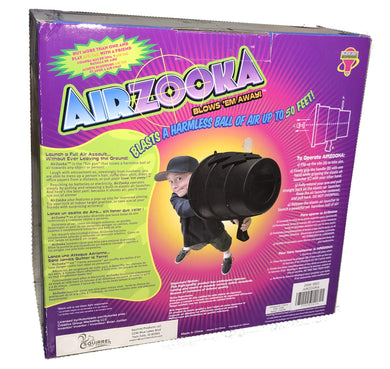 Airzooka Air Blaster- Blows 'Em Away - Air Toy for Adults and Children Ages 6 and Older - Black - White Elephant Gift