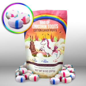 Bag of Unicorn Toots Half Pound Of Candy Funny for All Ages Unique Birthday for Friends, Mom, Dad, Girl, Boy Stocking Stuffer White Elephant Funny Christmas Gag Gift - White Elephant Gift