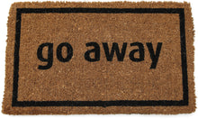 Load image into Gallery viewer, Entryways Non Slip Coir Doormat, 17-Inch by 28-Inch, Go Away Black - White Elephant Gift