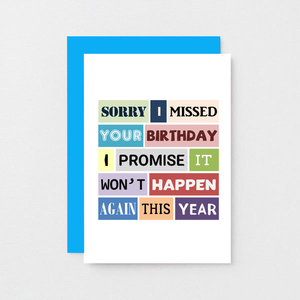 Belated Birthday Card | Won't Happen Again | SE0108A6