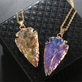 Natural Stone Triangular Pendant Choose from 6 Colors!