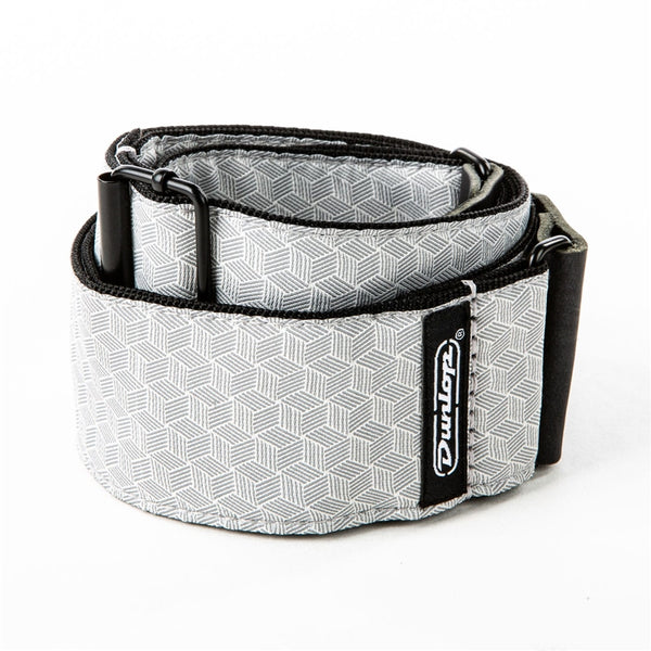 Dunlop D67-12 Tracolla Jacquard Cube Hatch Light Grey