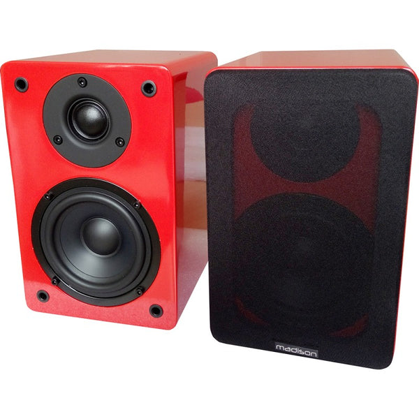 Madison MAD-BS4RE HI-FI Bookshelf Speakers 60W - Red