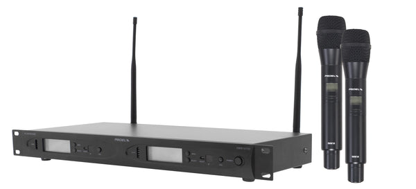 "Proel <p><span Style=""font-size: 13px;"">radiomicrofono Handheld  doppio Canale  uhf  uscite Indipendenti  1u Rack</span></p>"