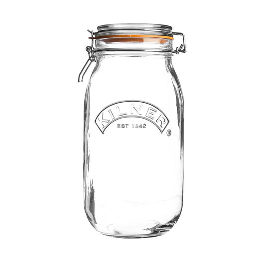Reusable Glass Clip Top Round Jar, Min. Order (Pack of 10 pieces)