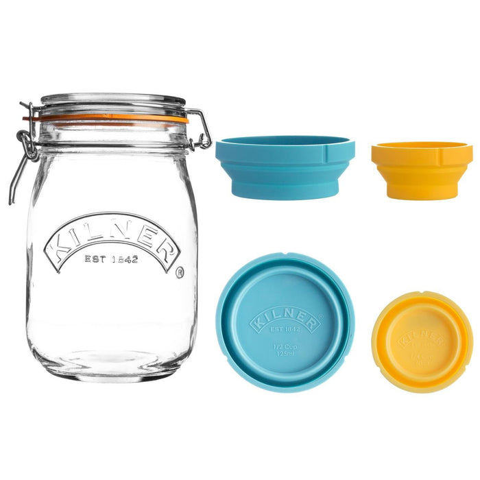 Reusable Glass Measure And Store Jar set 2LT, Min. Order (Pack of 10 pieces)