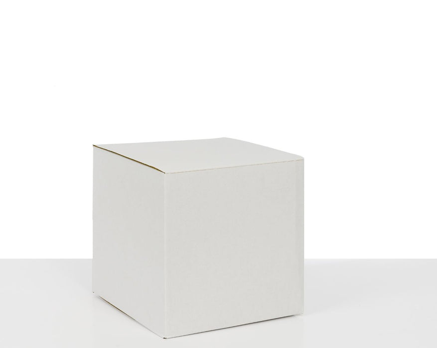 100% Recycled White Cardboard Hat Box 254x254x254mm (L x W x H)