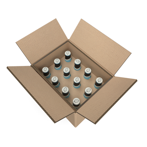 100% FSC Certified Brown Cardboard 12 Beer bottles Box 265x205x235 (L x W x H), Min. Order (Pack of 18 pieces)