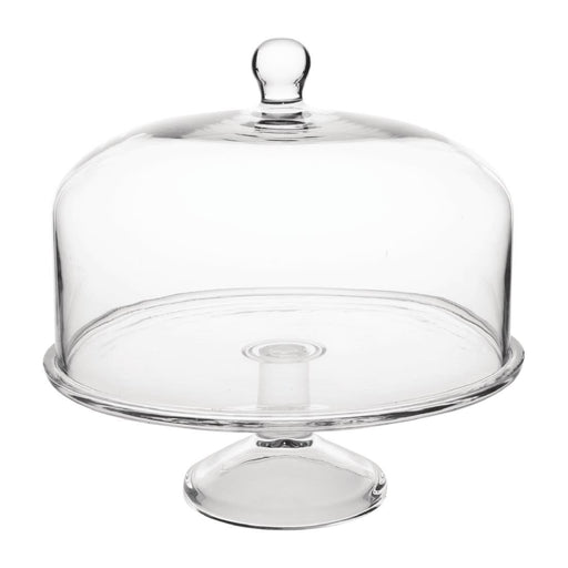 Reusable Glass Olympia Cake Stand Base, Min. Order (Pack of 10 pieces)