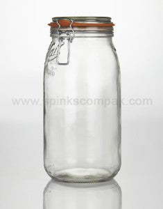 Reusable Glass Le Parfait Clip Top Jar, Min. Order (Pack of 10 pieces)