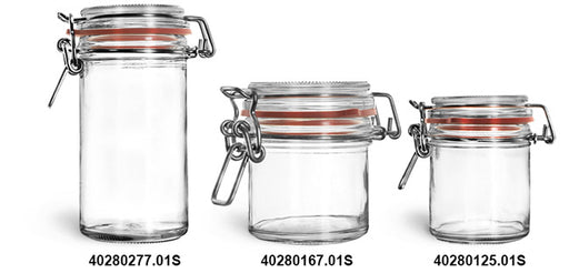 Reusable Glass Wire Bale Jars and Hinged Lids, Min. Order (Pack of 10 pieces)