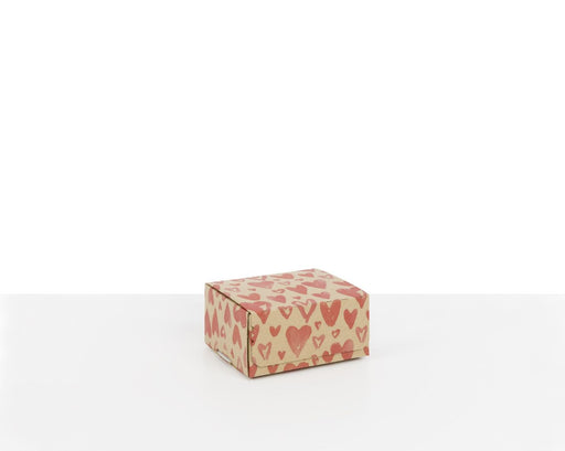 100% Recycled Boxes with Watercolour Hearts Print - The sustainable sourcing company