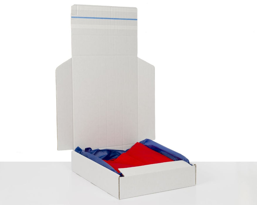 100% Recycled White Returnable Postal Box 380x310x80mm (L x W x H) - The sustainable sourcing company