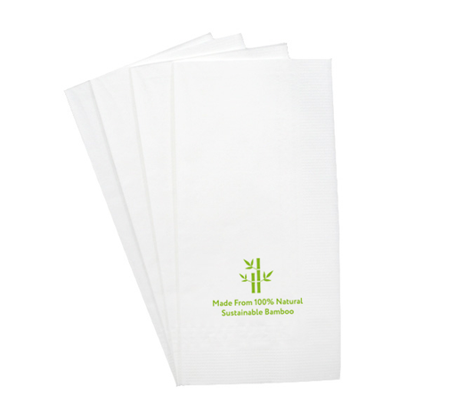 100% Bamboo 1/8 Fold Table Napkins, Min. Order (Pack of 10 pieces)