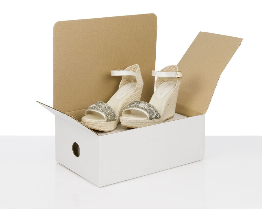 100% Recycled White/Brown Shoe Shipping Boxes - The sustainable sourcing company