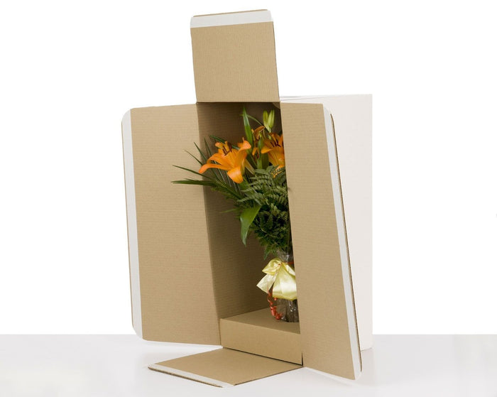 100% Recycled Flower Shipping Boxes Brown, Min. Order (Pack of 25 pieces)