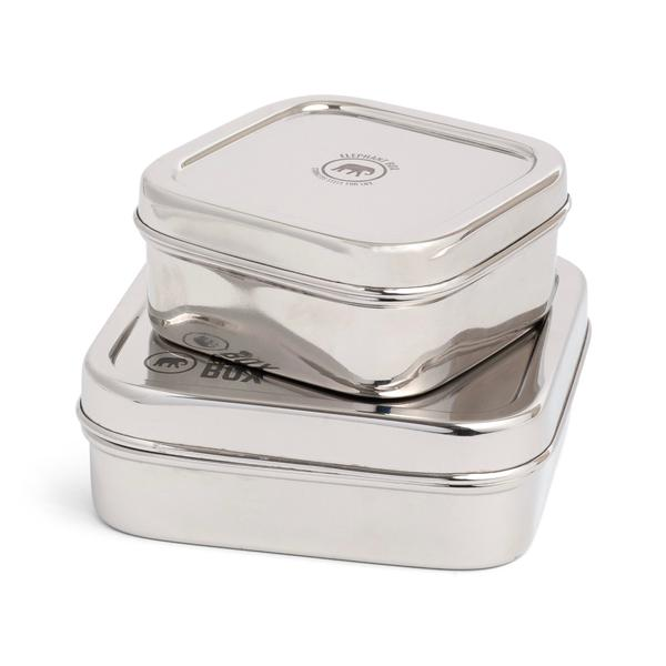 Reusable Stainless Steel Set of two square containers, Min. Order (Pack of 10 pieces)