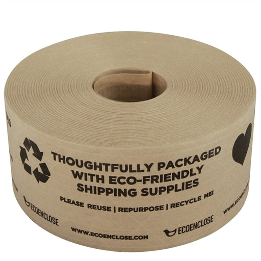 "Water Activated Kraft Paper Tape FSC Certified Paper Printed ""Thoughtfully Eco-Friendly"", Min. Order (Pack of 10 pieces)"