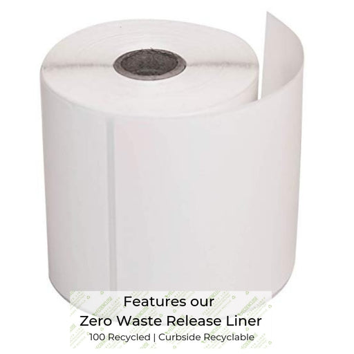 "100% Recycled 4"" x 6"" Zero Waste Direct Thermal Label Regular, Min. Order (Pack of 10 pieces)"