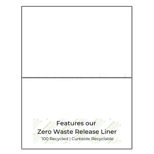 "100% Recycled 8.5"" x 5.5"" Zero Waste White Shipping Label 200 Labels, Min. Order (Pack of 10 pieces)"