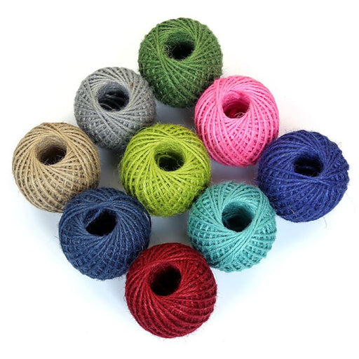 100% Jute Twine In Assorted Colours, Min. Order (Pack of 10 pieces)