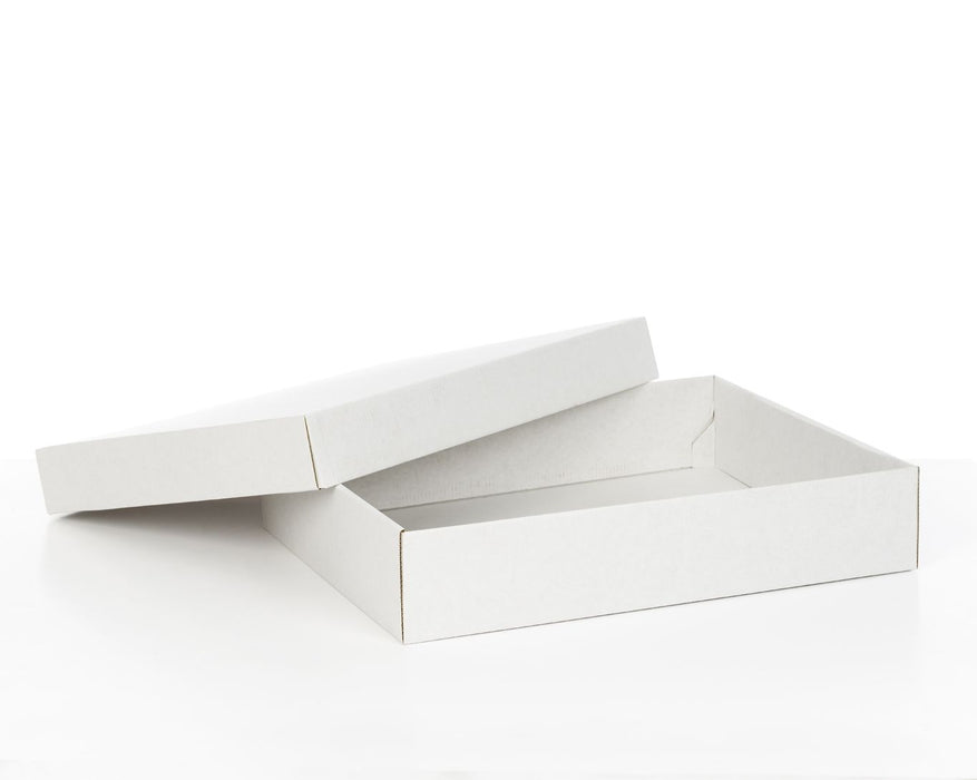 100% Recycled White Gift Boxes with Lid