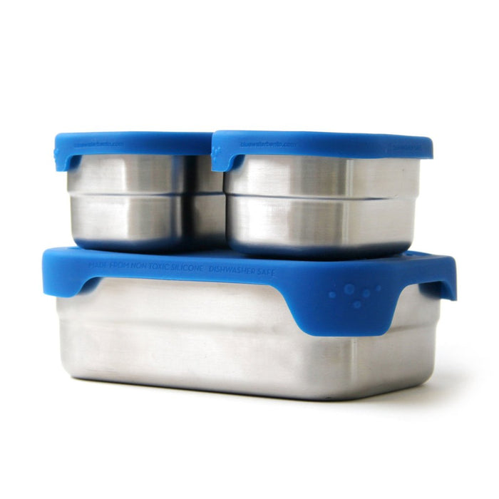 Reusable Stainless Steel Splash Box and Pods Set Blue Water Bento Box, Min. Order (Pack of 10 pieces)