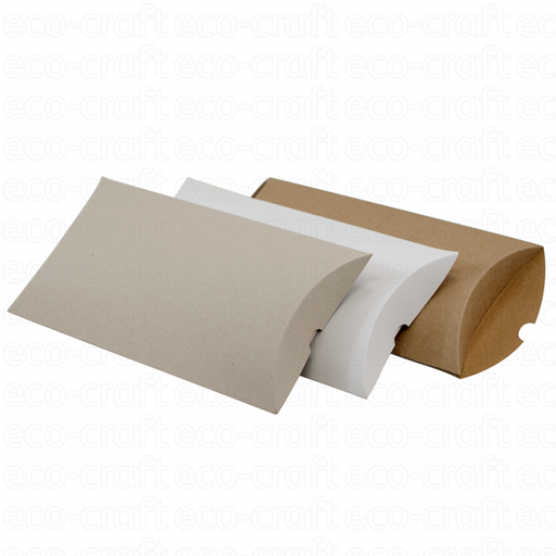 100% Recycled Pillow Boxes, Min. Order (Pack of 10 pieces)