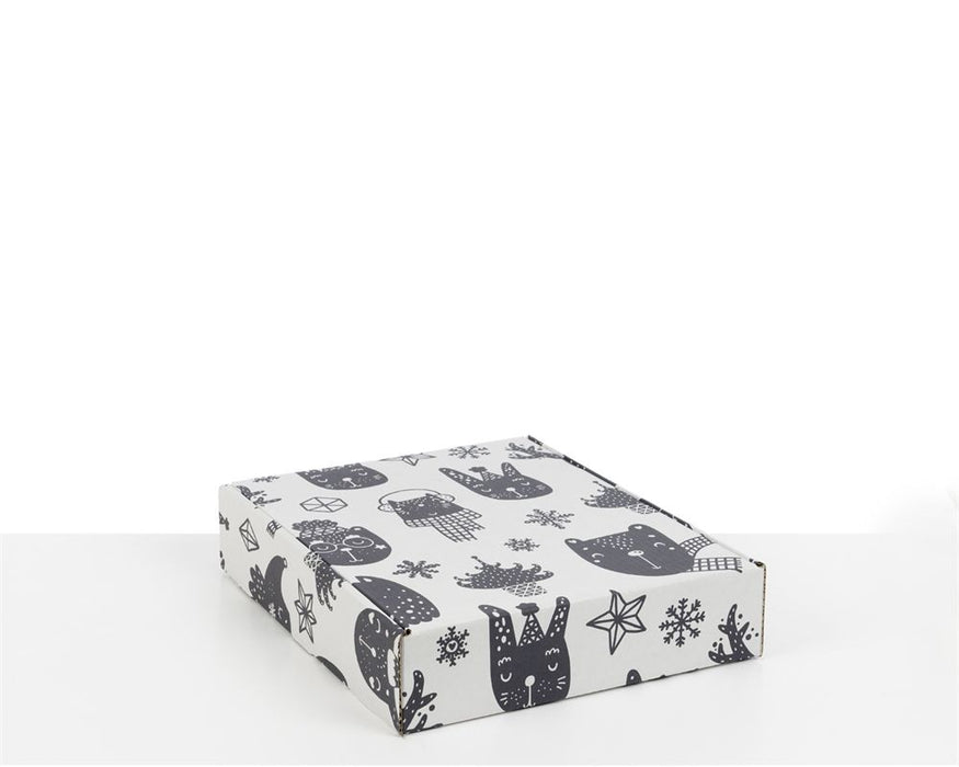 100% Recycled Boxes with Xmas Kids Print - The sustainable sourcing company