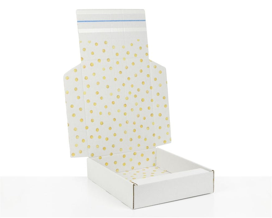 100% Recycled Boxes with Gold Dots Print - The sustainable sourcing company