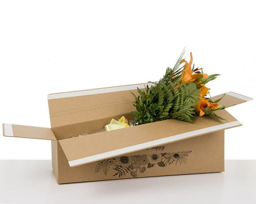 100% Recycled Flower Shipping Boxes with Prints - The sustainable sourcing company